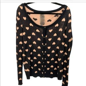 Moon Collection Heart Button Down Cardigan XL 180